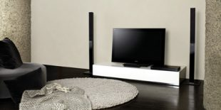 An image of a Sony 2.1 Home Cinema System in a modern room