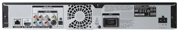 Rear of Sony BDP-S560