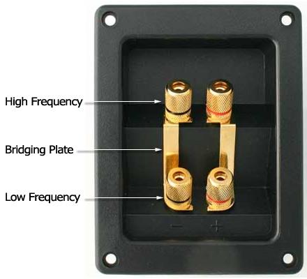 Bi-amp Speaker Terminals