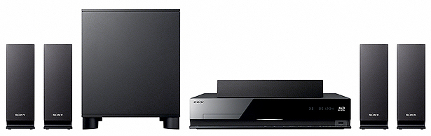 Image showing Sony BDV-E370 speakers