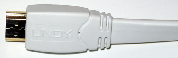 Lindy White Premium Flat HDMI Cable
