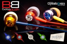 Some of the funky colours of BassBuds Earphones