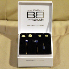 The BassBuds Smooth in their box