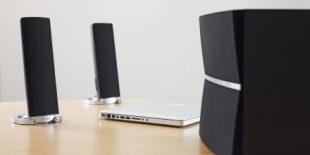 Edifier M3280BT with a laptop