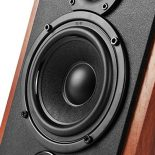 Close up image of the Edifier R1700BT Woofer