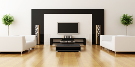 Image of Home Cinema in smart minimalist home