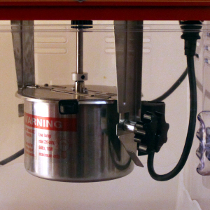 Close up image of the Popcorn Makers kettle