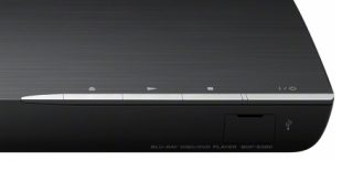 Image of the playback buttons and USB socket on the Sony BDP-S390 Blu-ray player