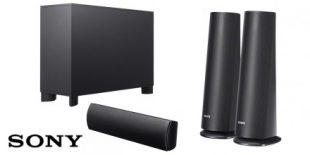 Image of the Sony BDV-N590 speakers