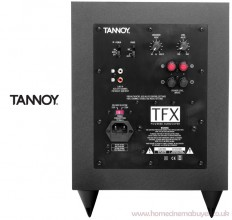Photo of the rear control panel of the Tannoy TFX Subwoofer